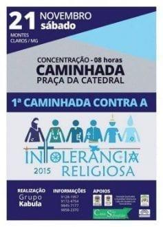 Montes Claros - I Caminhada Contra a Intolerância Religiosa será no dia 21