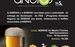 Montes Claros - SEBRAE e ANBRAS realizarão hoje a cerimonia de entrega da Declaração do PAS