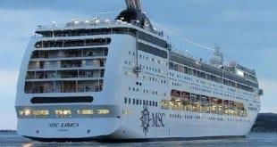 MSC Lirica foi o último a passar pelo processo e está pronto para sua viagem ao Brasil