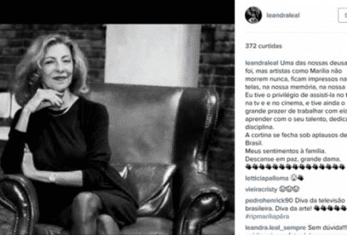 Famosos prestam homenagens a Marília Pêra nas redes sociais