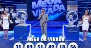 As dezenas sorteadas na Mega da Virada de 2015 (Foto: Reprodução)