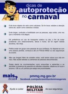 Montes Claros - Dicas de Segurança para o Carnaval