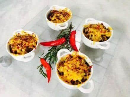 Gastronomia - Receita de Picadinho de carne gratinado com queijo