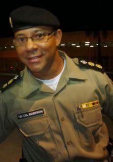 Tenente Coronel Ederson da Cruz Pereira, do Décimo Batalhão da Polícia Militar em Montes Claros