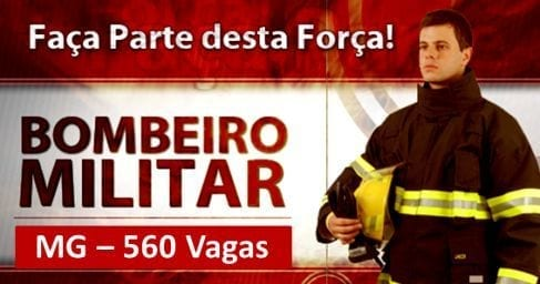 Concursos - Termina nesta sexta-feira (26/02) o prazo de inscrição para concurso dos bombeiros de Minas Gerais