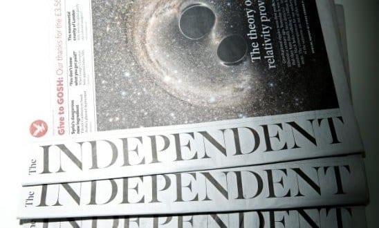 The Independent passará a ser 100% digital a partir de 26 de março