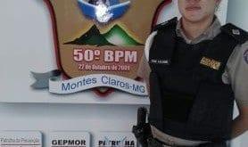 tenente Lilian Fernandes Dias, comandante do Pelotão de Trânsito do 50º Batalhão de Montes Claros