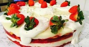 Gastronomia - Receita de Torta gelada de morango e limão