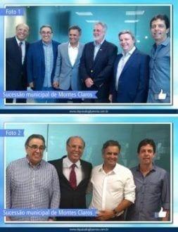 Foto 1: Dep. Gil Pereira (PP); pres. do Partido Progressista (PP) e ex-governador de MG, Alberto Pinto Coelho; senador Aécio Neves (PSDB); pres. do DEM, dep. Carlos Melles; senador Antonio Anastasia (PSDB); e Dinis Pinheiro (PP).  Foto 2: Pres. do Partido Progressista (PP) e ex-governador de MG, Alberto Pinto Coelho; dep. Gil Pereira (PP); senador Aécio Neves (PSDB); e Dinis Pinheiro (PP).