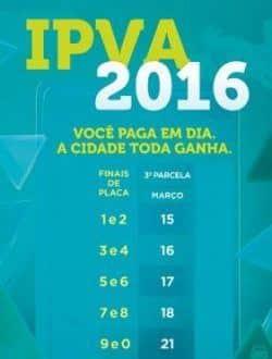 MG - Terceira parcela do IPVA em Minas Gerais começa a vencer nesta terça-feira (15)