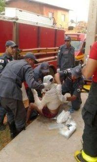 Montes Claros - Explosão de gás deixa uma pessoa ferida no bairro Carmelo