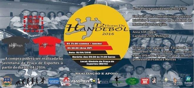Handebol Montes Claros promove partida de 12 horas
