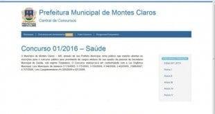 Inscrições para concurso da Saúde em Montes Claros têm início e data da prova é alterada