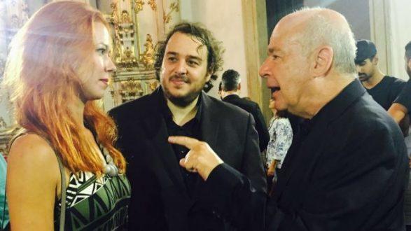 Encontro entre o maestro de Ouro Preto e a produtora Laisa Bastos