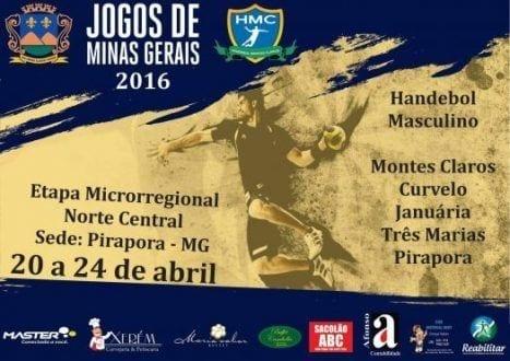 Pirapora vai receber fase Microrregional dos JIM e, em Montes Claros, acontecerá 12 horas de Handebol