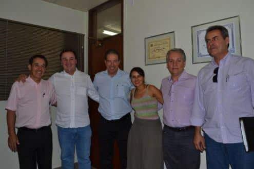 Secetariado - Da esquerda para a direita - Antônio Henrique Sapori, Leonardo Andrade, Ruy Muniz, Helena Alves, Edvaldo Marques e Reinaldo Landulfo