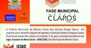 Montes Claros - Abertura dos Jogos Escolares acontece nesta sexta-feira (01/04)