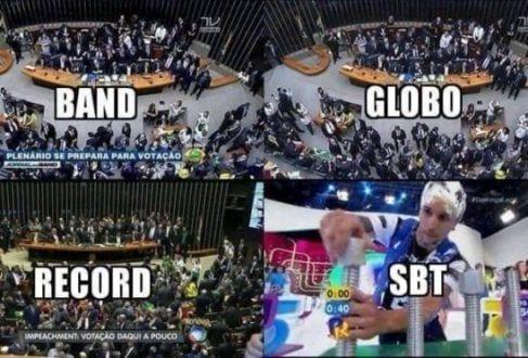 TV - SBT não transmite votação de impeachment e fica em 2º na audiência