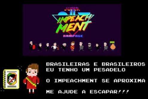 Sátira - Em game, Dilma é perseguida por impeachment e pede ajuda para escapar