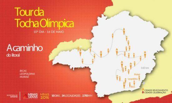 MG - Tour da Tocha chega sai hoje de Minas Gerais
