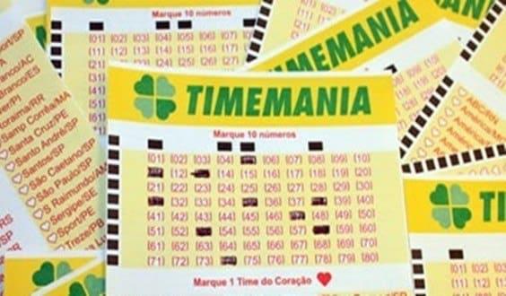 Timemania sorteia R$ 4,6 Milhões no fim de semana