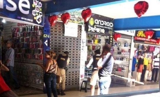 Montes Claros - PM realiza Operação no Shopping Popular de Montes Claros