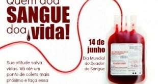 MG - Hemominas tem programação especial no Dia Mundial do Doador de Sangue