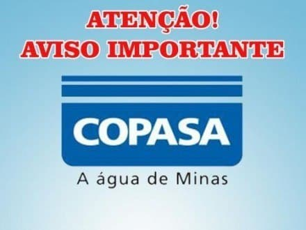 Image result for aviso importante copasa