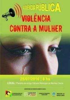 Montes Claros - Audiência discute violência contra a mulher em Montes Claros