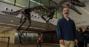 Esqueleto de um Gualicho, nome dado pela equipe de paleontólogos, foi encontrado quase intacto