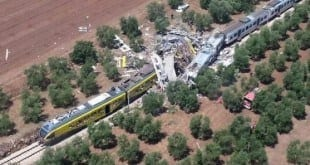 Europa - Acidente entre trens deixa ao menos 12 mortos no sul da Itália