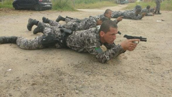 PMs de Montes Claros realizam curso com Força Nacional durante Olimpíadas Rio 2016