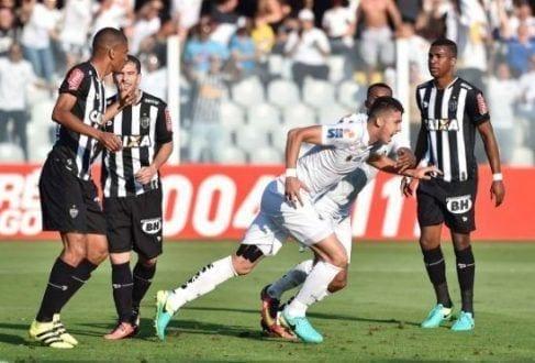 Brasileirão 2016 - Galo leva três do Santos