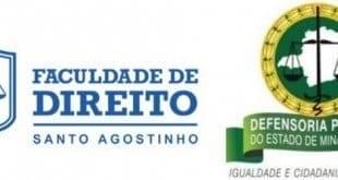 Faculdades Santo Agostinho firma parceria com Defensoria Pública do Estado de Minas Gerais