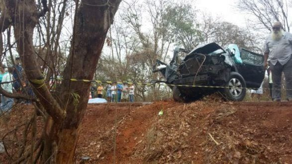 Norte de Minas - Acidente deixa duas pessoas mortas em Coração de Jesus