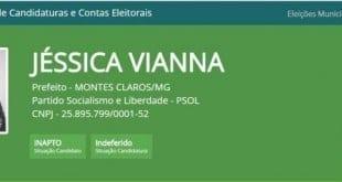 Eleições 2016 - PSOL tem candidatura indeferida em Montes Claros