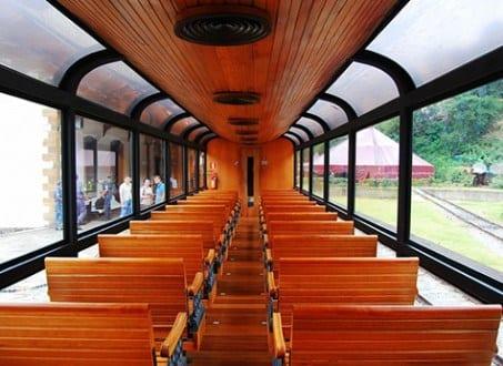 Vagão Panorâmico no Trem da Vale ( foto divulgação)