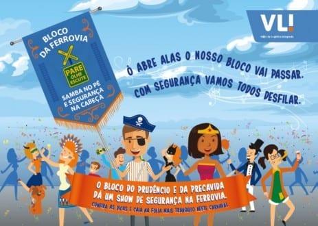 """""""Carnaval com Segurança"""": VLI realiza campanha educativa em ferrovias do Norte de Minas"""