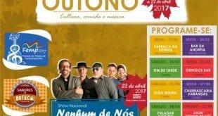 Norte de Minas - Município de Porteirinha realiza 1º FESTIVAL DE OUTONO