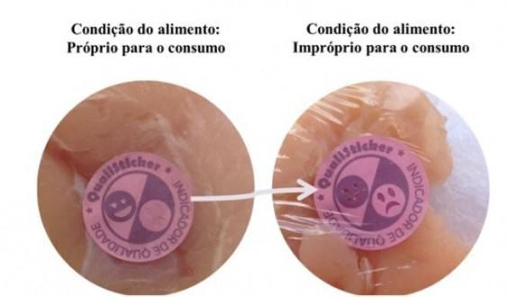 Pesquisadora cria adesivo para identificar se o frango está adequado para o consumo