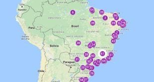 Mapa de assassinatos de trans e travestis no Brasil