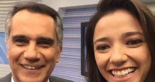 Apresentadora do Globo Esporte, Maíra Lemos foi uma das que prestaram homenagens ao apresentador