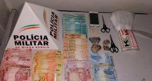 Montes Claros - Um homem e uma mulher são presos por de tráfico de drogas no bairro Conferência Cristo Rei