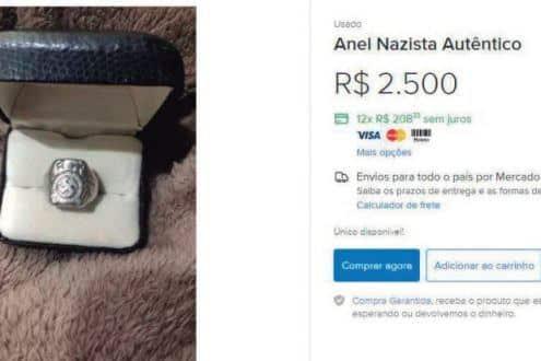 Vendedor diz que anel era de seu avô, que deixou vários objetos nazistas como herança