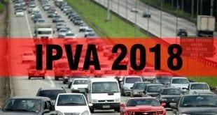 MG - IPVA 2018 terá redução média de 2,98%; escala começa em 10 de janeiro