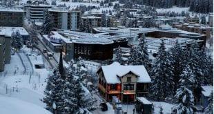 Vista geral do local onde acontece o Forum Econômico Mundial, em Davos