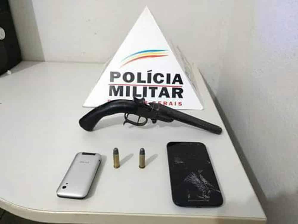 Norte de Minas - Dois são presos após roubar moto e celular em Jaíba