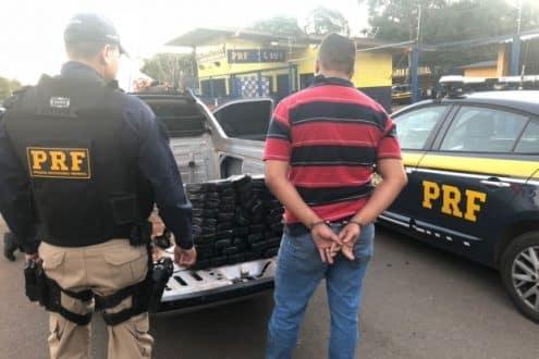 Motorista contou que pegou a droga na cidade de Capinópolis, no Triângulo Mineiro, mas não informou o local de entrega
