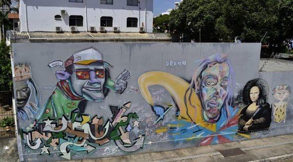 Muros do Conservatório se tornarão o maior painel de graffiti da cidade de Montes Claros