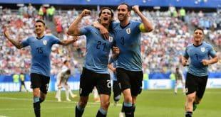 O Uruguai se classificou às oitavas de final com 100% de aproveitamento